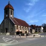 Eine burgundische Dorfkirche.