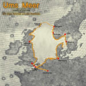 Karte Irgendlinks Nordseeumrundung 2012