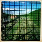 Blick auf die Gleise beim Bahnhof Türkismühle