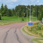 Straße in Schweden