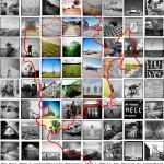 Nordseeradweg - North Sea Cycle Route Bildmontage Memory of Mankind Version