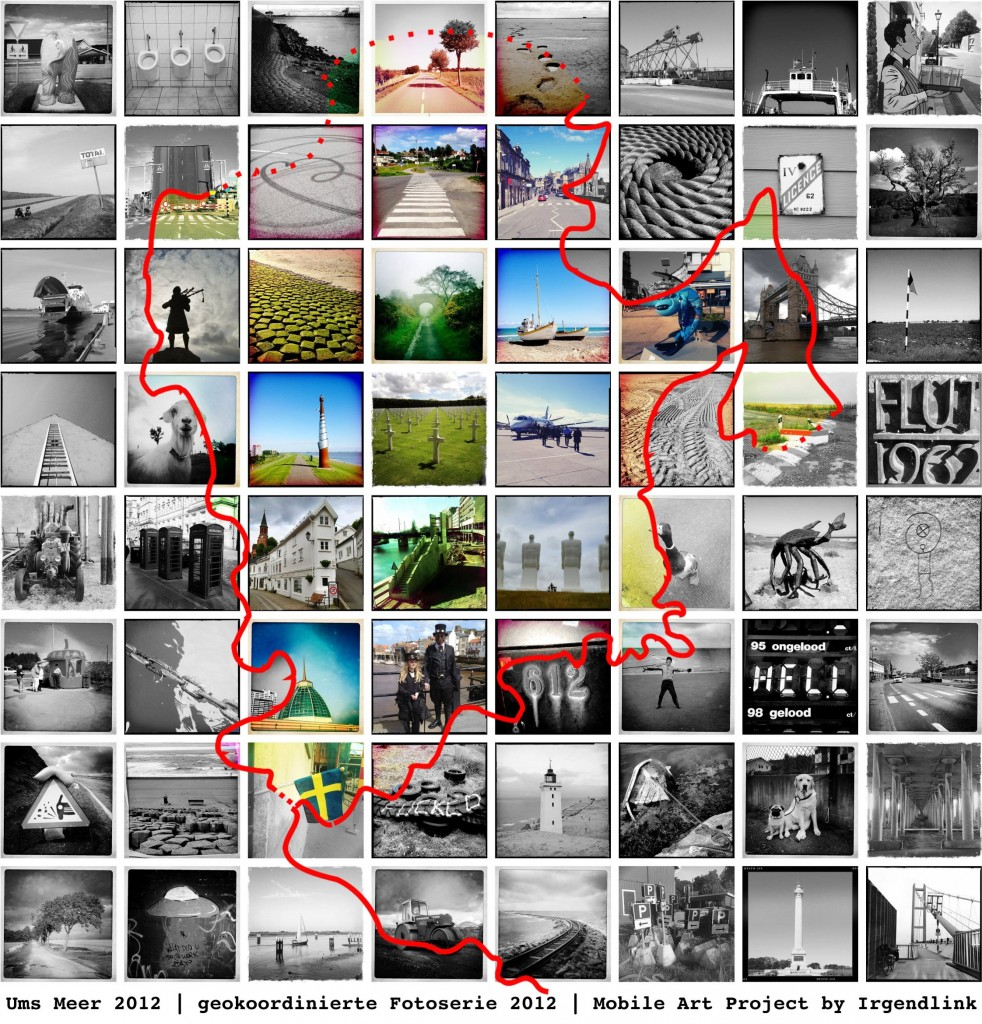 Nordseeradweg - North Sea Cycle Route Bildmontage Memory of Mankind Version