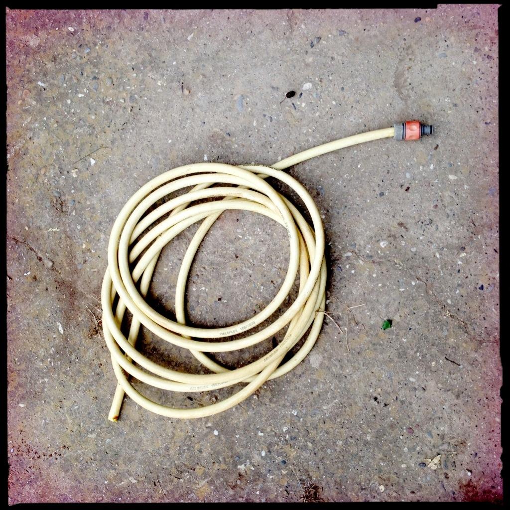 Meiko Hoorlander - Tubular Hells, 2013, Gartenschlauch auf Beton