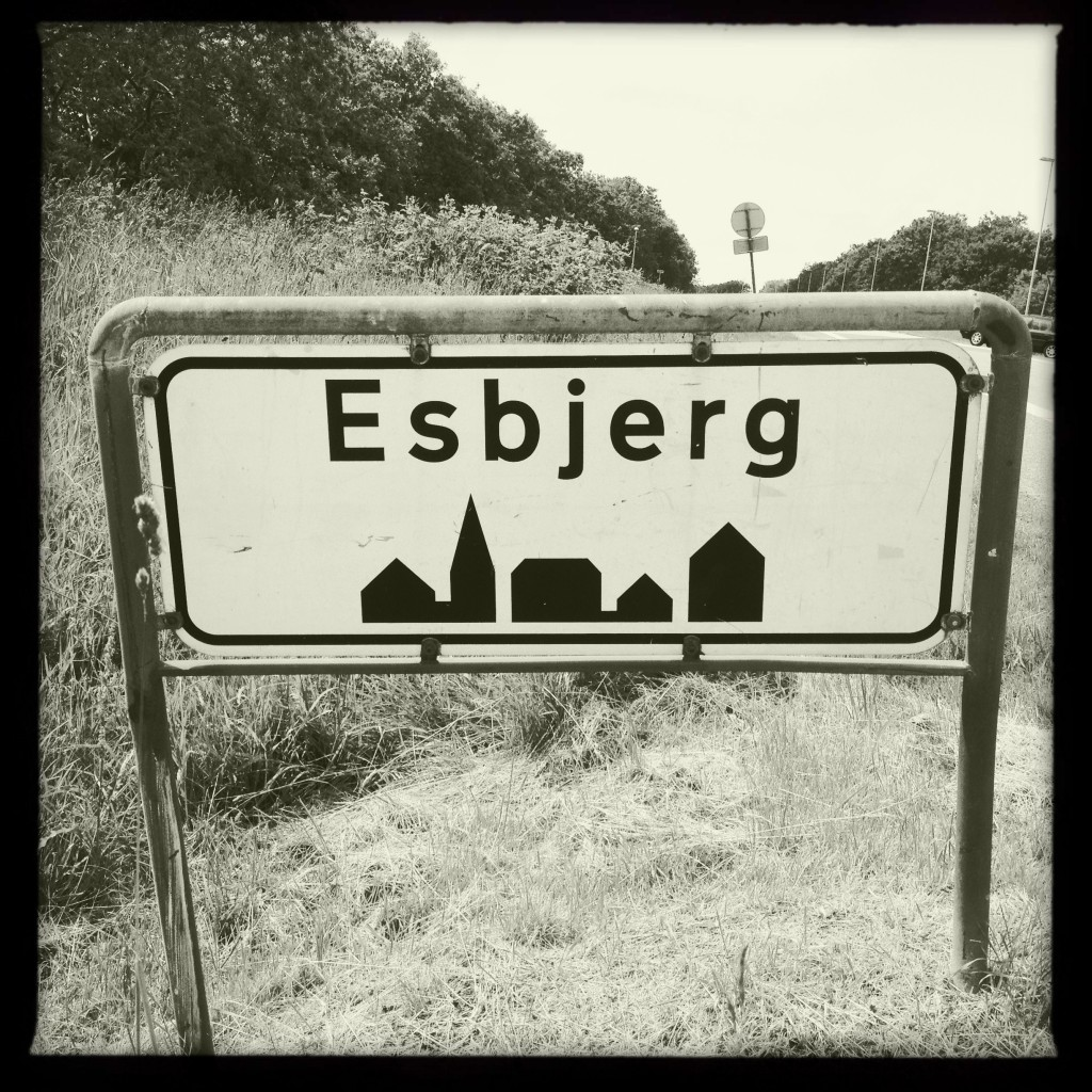 Esbjerg - Dänemark, Ortsschild
