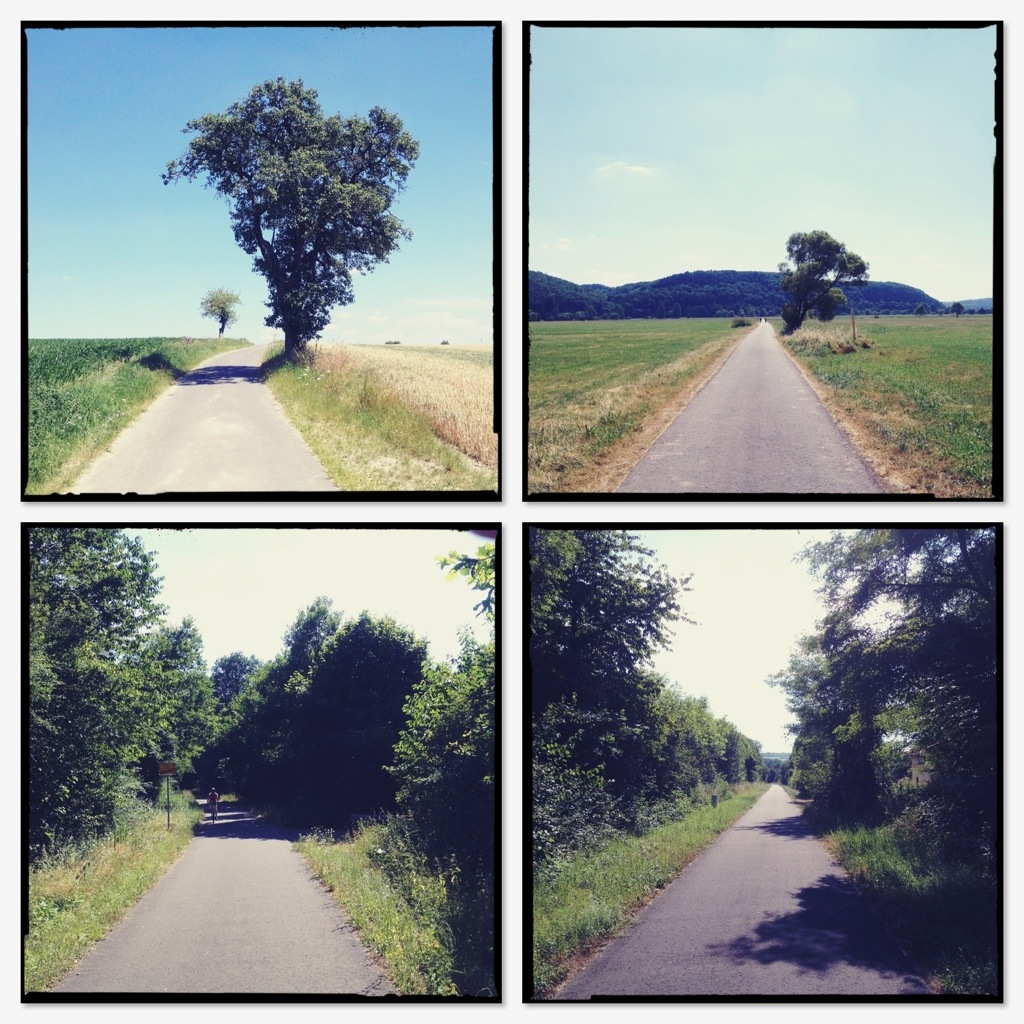 Vier Kunststraßenbilder