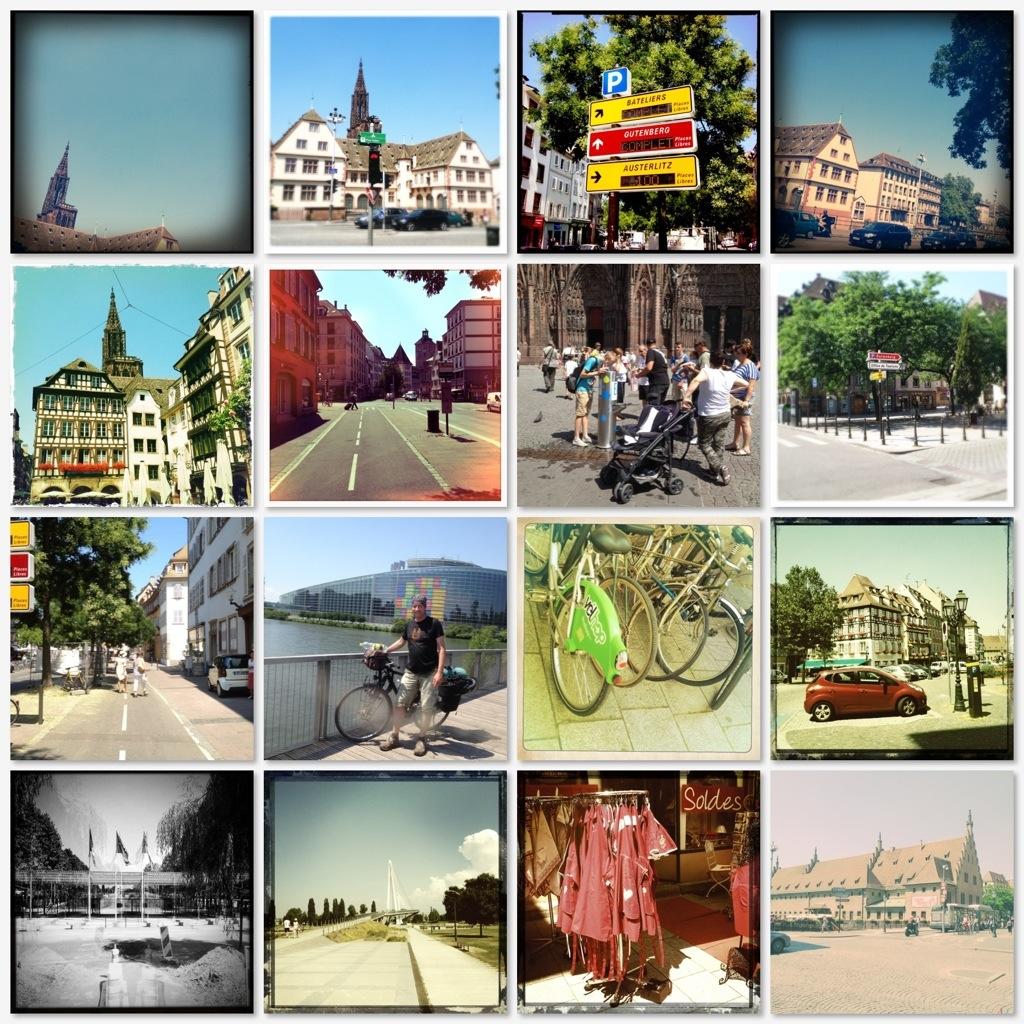 Fotocollage aus Strasbourg