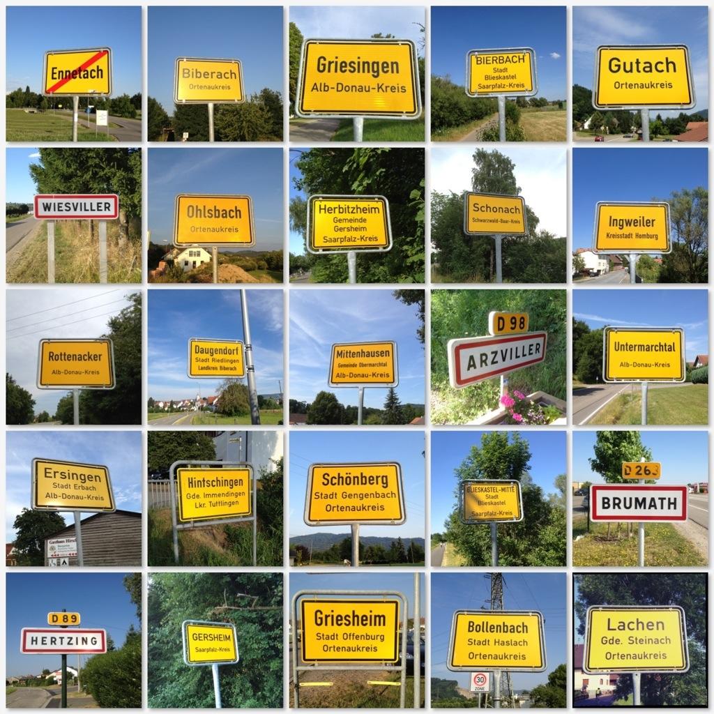 Ortsschilder Deutschland und Frankreich