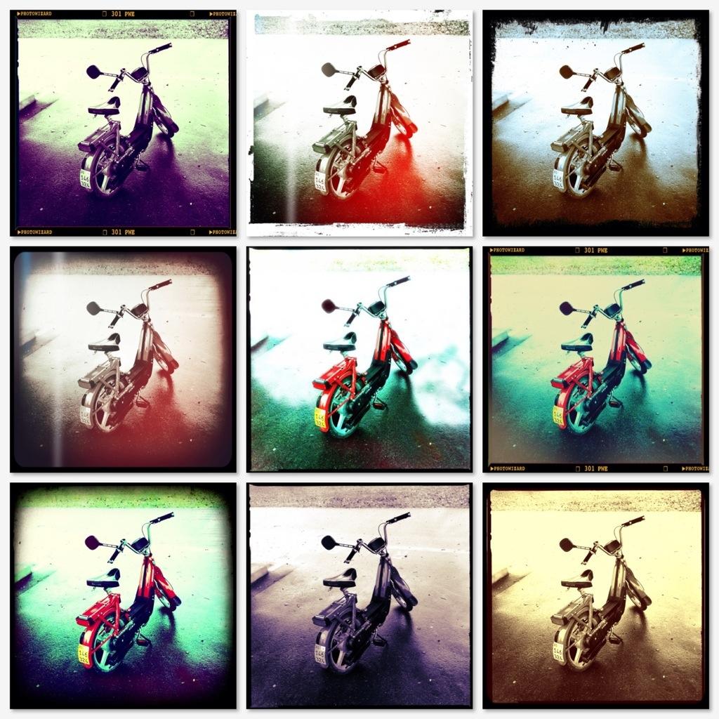 Neun Mofas Collage