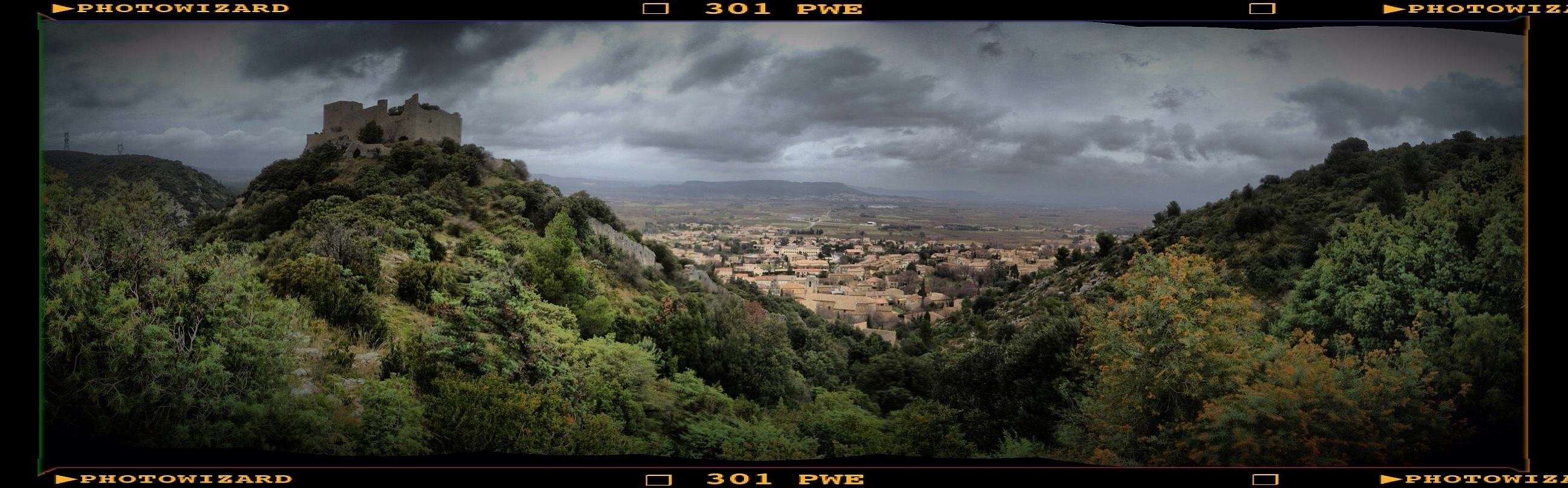 Panorama Saint Victor Blick ins Rhônetal