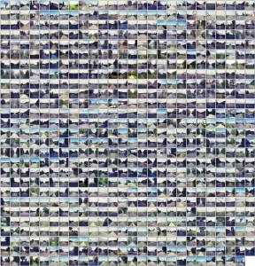 Bildtafel mit Straßenfotos alle 10 km auf dem Nordseeradweg