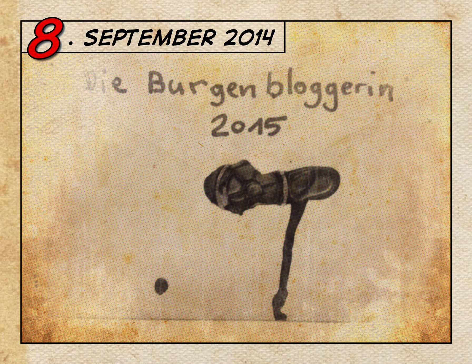 Umschlag versiegelt mit dem Namen der künftigen Burgenbloggerin