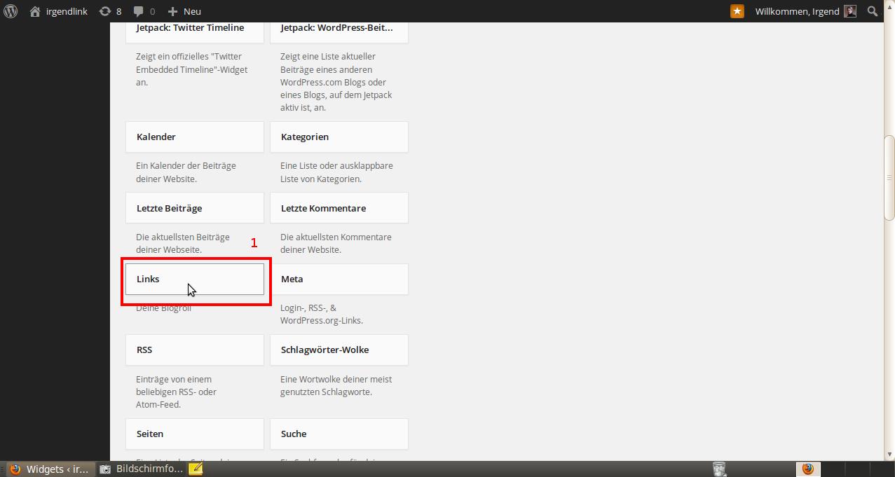 Wordpress Widgets 2