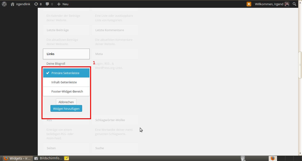 Wordpress Widgets 3