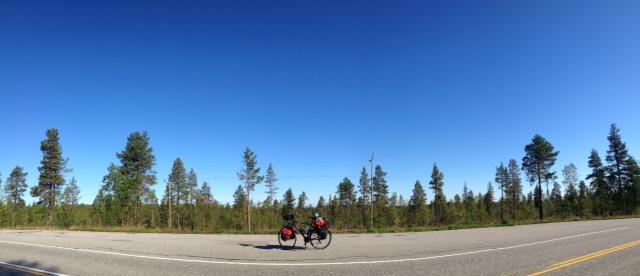 Auf der Straße von Palojoensuu nach Enontekiö