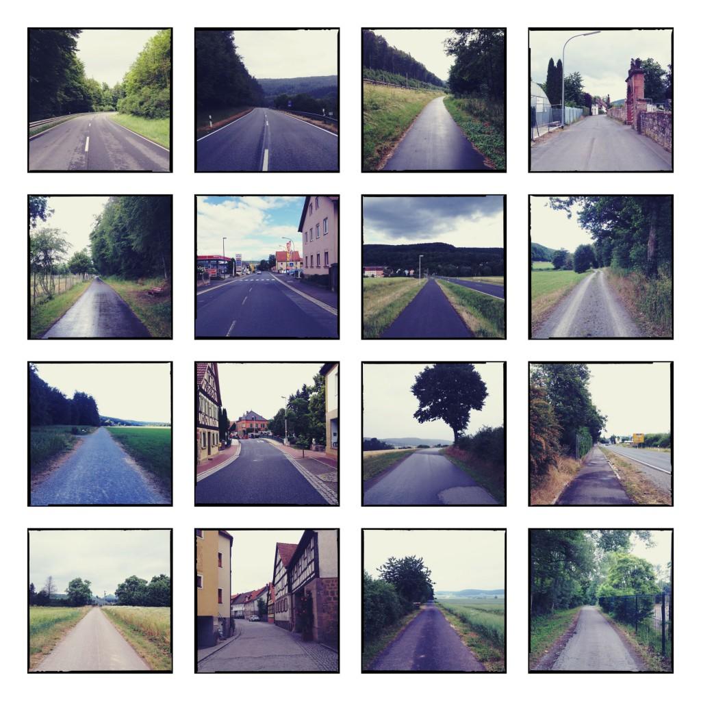 Kap Bildtafel 3 quadratisch bunt. 16 Einzelbilder Kilometer 320 bis 470