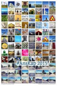 Poster mit Bildern der Fahrradreise ans Nordkap 2015
