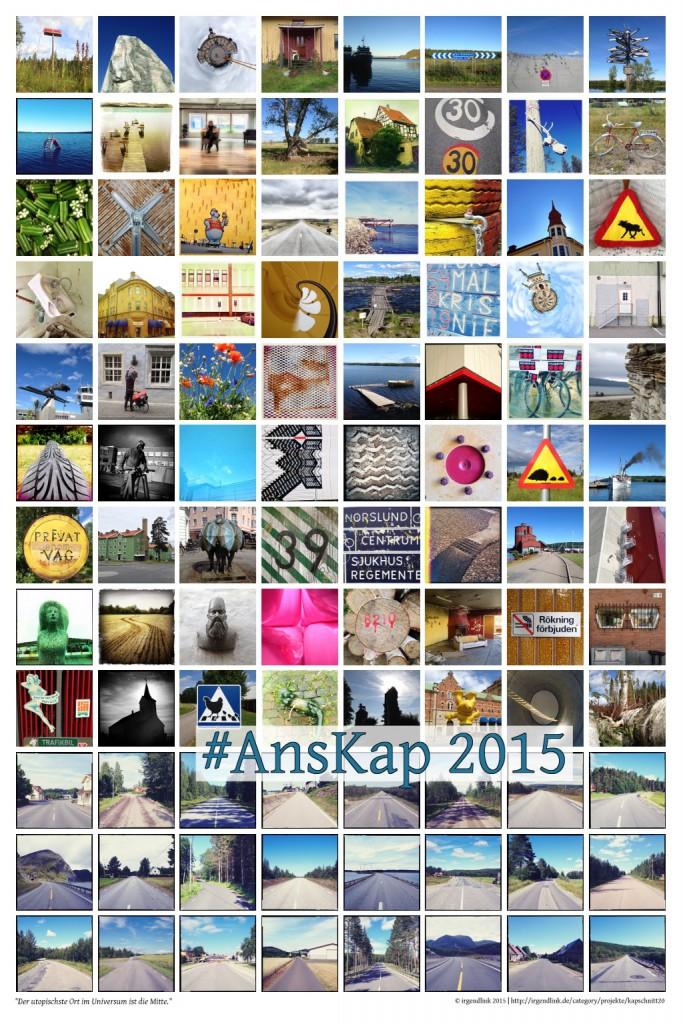Poster 'Ans Kap' - 96 quadratische Fotos auf dem Weg zum Nordkap