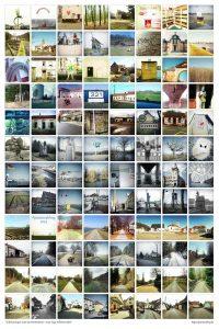 Eine Bildcollage mit 96 quadratischen Retrobildern.