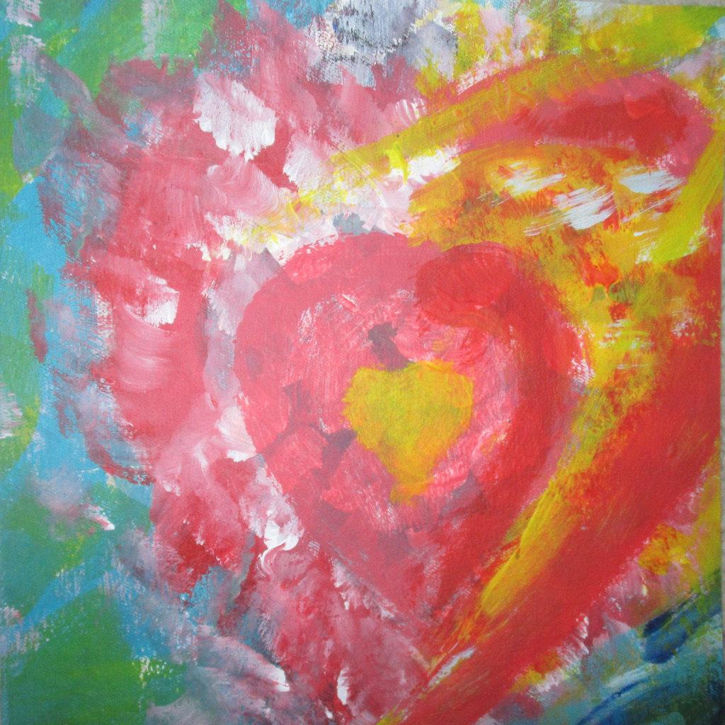 Abstraktes Herz in bunten Farben.