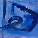 Blauer Schnörkel