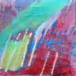Ein abstrakter, schräger Zaun